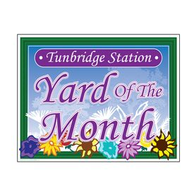 Tunbridge Station Yard of the Month sign image