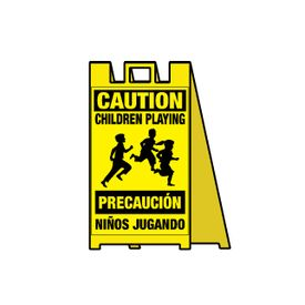 Caution Children Playing Signicade Sign Image
