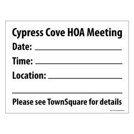 Cypress Cove HOA Yard Sign