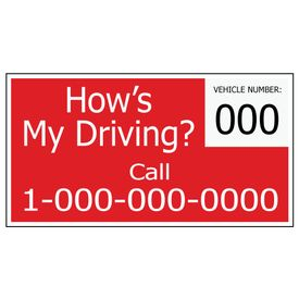 How's My Driving 8x15 Decal Image