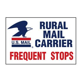 US Mail Caution Frequent Stops 12x18 decal image