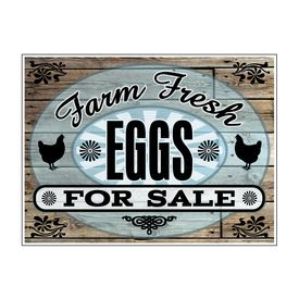 Farm Fresh Eggs For Sale Aluminum 18x24 sign image