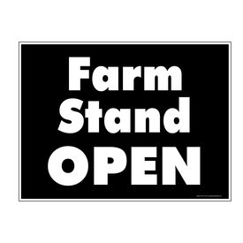 Farm Stand Open 18x24 Sign Image