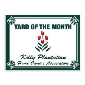 YOTM Kelly Plantation Home Owners Association Coroplast Sign Image
