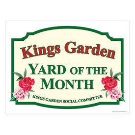 Kings Garden Yard of the Month Sign Image