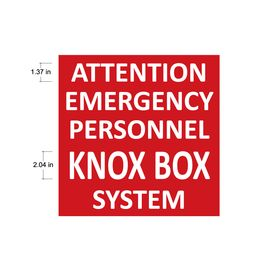 Attention Emergency Personnel Knox Box System Sign image