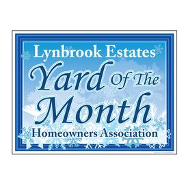 Lynbrook Estates YOTM Snowflakes Yard Sign