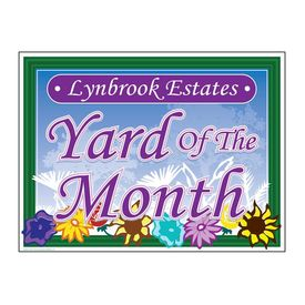 Lynbrook Estates Yard of the Month Floral Sign Image