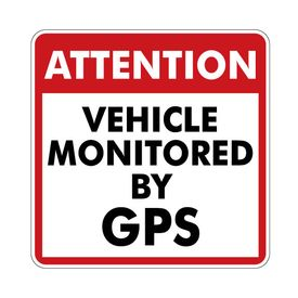 This vehicle monitored by GPS magnetic image