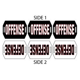 Offense Defense Hand Held Cheer Sign Image