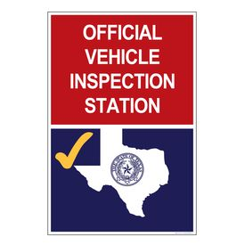Texas Vehicle Inspection Station 36x24 Sign Image