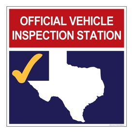 Official Vehicle Inspection Station sign image v2