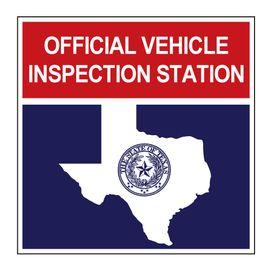 Official Vehicle Inspection Station aluminum v2 sign image