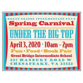 PTA Big Top Spring Carnival 18x24 Yard Sign Image