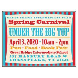 PTA Big Top Spring Carnival 18x24 Yard Sign Image