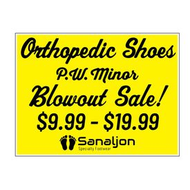 PW Minor Blowout Sale Coroplast Sign Image