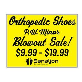 PW Minor Blowout Sale Coroplast Sign Image