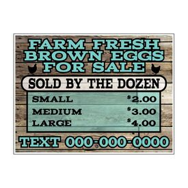 Farm Fresh Brown Eggs Sign Image