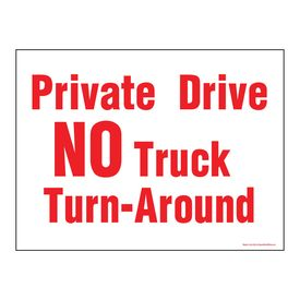 Private Drive NO Truck Traffic sign image