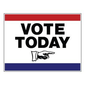 Vote Today right arrow 18x24 sign image