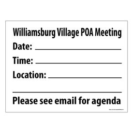 Williamsburg POA Sign Image