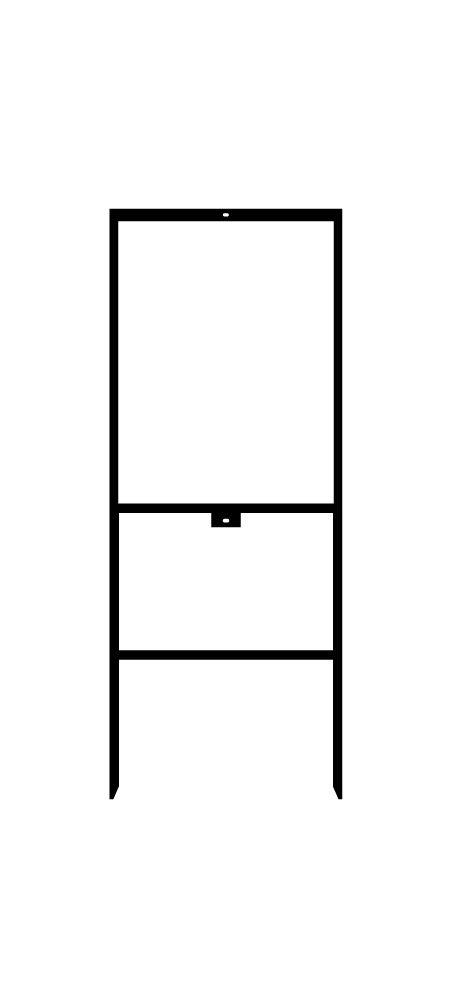 Vertical steel sign frame image