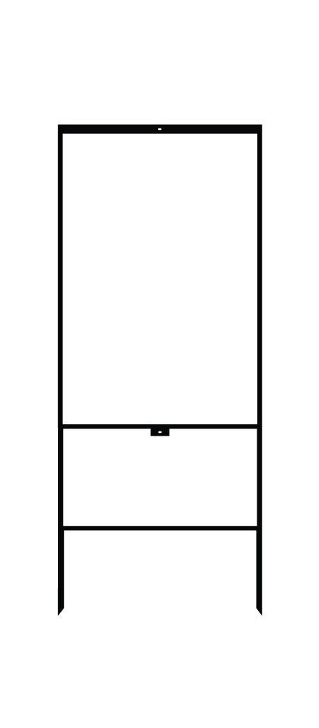 Vertical 36x24 steel sign frame image