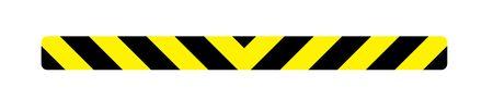 Caution stripe magnetic image 3x36 V