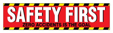 Safety First 3 paper poster