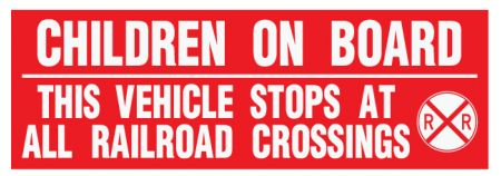 Children On Board This Vehicle Stops decal image