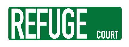 Refuge Court street sign image