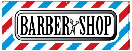 Barber Shop Stripes banner image