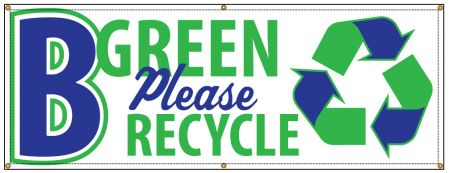 Be Green recycle banner image