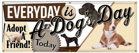 Everyday Is A Dog's Day Adopt a Friend banner image