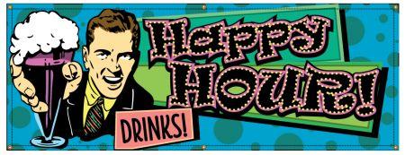 Happy Hour Retro banner image