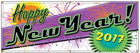 Happy New Year Retro banner image