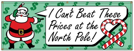 Can't Beat These Prices Retro banner image