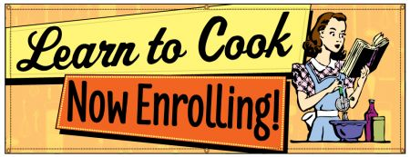 Learn To Cook Retro banner image