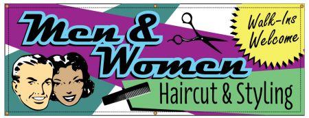 Men and Womens Haircuts Retro banner image