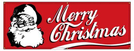 Merry Christmas Retro banner image