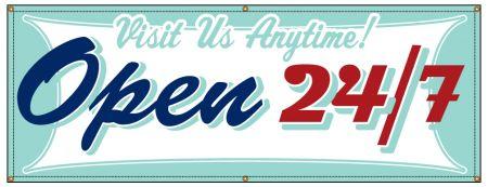 Open 24/7 Retro banner image