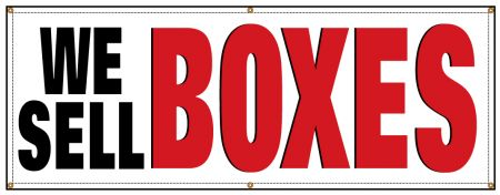 We Sell BOXES banner image