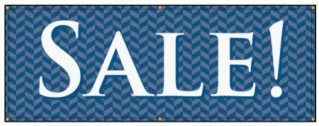 Sale blue herringbone banner