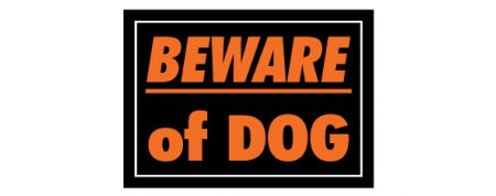 Beware of Dog sign image