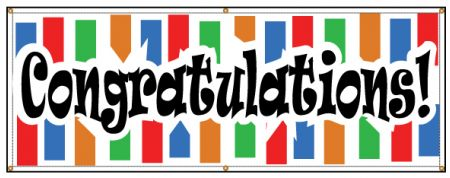 Congratulations Colorful banner image