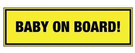 Baby on Board decal image