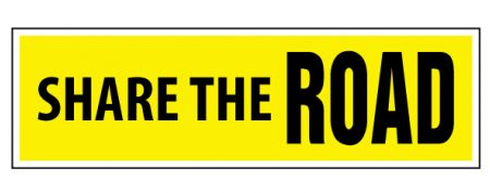 Share the Road decal image