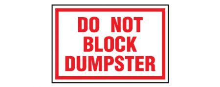 Do Not Block Dumpster image