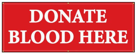 Donate Blood Here banner image