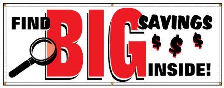 Find Big Savinsg banner image